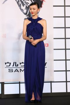 Fabulously Spotted: Rila Fukushima Wearing Tom Ford - 'The Wolverine' Japan Premiere - http://www.becauseiamfabulous.com/2013/08/rila-fukushima-wearing-tom-ford-the-wolverine-japan-premiere/