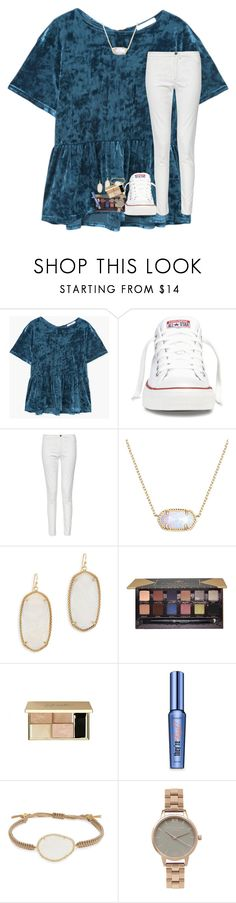 """""""when you're always there for your friends but they aren't there for you anymore"""" by lindsaygreys ❤ liked on Polyvore featuring MANGO, Converse, French Connection, Kendra Scott, Anastasia Beverly Hills, Benefit, Tai and Olivia Burton"""