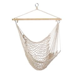 Amazon.com : Gifts & Decor Cotton Rope Hammock Cradle Chair with Wood Stretcher : White Hanging Chair : Patio, Lawn & Garden