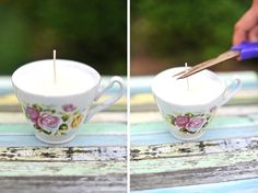 DIY - Teacup Candles - Annapolis Wedding Blog for the Maryland Bride