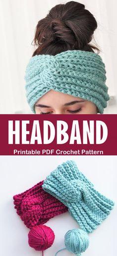 Make a turban headband headband crochet patterns great ear warmers a more crafty life crochet crochetpattern diy 11 crochet headband patterns great ear warmers Turban Crochet, Bandeau Crochet, Crochet Headband Free, Crochet Diy, Crochet Scarves, Crochet Crafts, Crotchet, Diy Crochet Projects, Crochet Tutorials