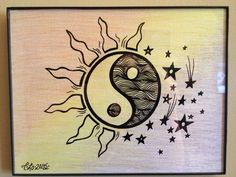 Day & Night Ying Yang by CLoTheArtist on Etsy