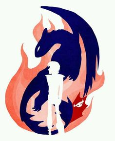 fire_toothless_hiccup_silhouette