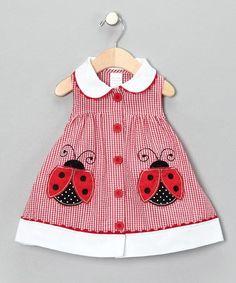 Awesome Women Fashion Dress Red & White Ladybug Seersucker Babydoll Dress - Infant | zulily Check more at http://24shopping.ga/fashion/women-fashion-dress-red-white-ladybug-seersucker-babydoll-dress-infant-zulily/