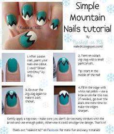 Nailed It NZ: Nail art for short nails #1: Mountain Nails