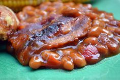 Sweet and Savory Southern-Style Baked Beans with Bacon, Brown Sugar and Barbecue Sauce