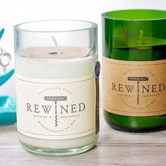 Rewined Rose Candle at HandPicked » This rose candle smells heavenly! #behandpicked #rewined