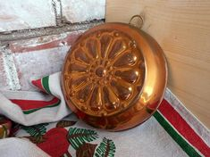 Swedish vintage collectible copper jello molds Decorative pan home wall decor cooking baking molds Rustic Scandinavian kitchen decor display