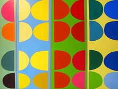 Sir Terry Frost (British, Oil on canvas Signed and dated on verso: Frost, 1971 h: x w: 96 in via Abby M. Geometric Painting, Geometric Shapes, Abstract Paintings, Abstract Art, Post Painterly Abstraction, Field Paint, Hard Edge Painting, Colour Field, Canvas Signs