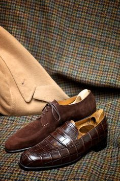 croc, suede and tweed