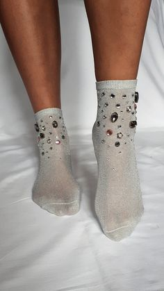 Smart Women Never Go for Socks And Heels, Ankle Socks, Silver Socks, Sparkly Socks, Cute Tights, Green Socks, Crazy Socks, Novelty Socks, Fashion Socks