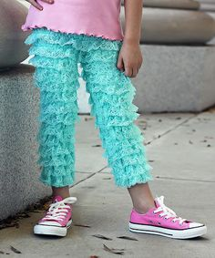 Another great find on Aqua Lace Ruffle Pants - Toddler & Girls by Sweet Petunia Ruffle Pants, Lace Ruffle, Cute Outfits For Kids, Cute Kids, Toddler Fashionista, Aqua, Teal, Turquoise, Petunias