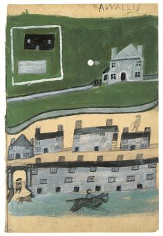 Masterpiece London 2013. Osborne Samuel. Alfred Wallis, 'Houses with Horse Rider', c. 1930