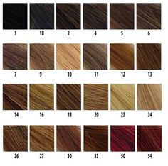 Color Chart Diva Lace Wigs