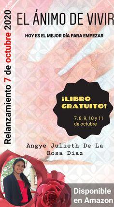 """✨RELANZAMIENTO DEL LIBRO, """"EL ÁNIMO DE VIVIR"""" - 7 DE OCTUBRE 2020✨ ¡DESCARGALO GRACIAS! El 7, 8, 9, 10 y 11 de octubre.🤓🎁🎊 Movie Posters, October, Live, Thanks, Book, Film Poster, Billboard, Film Posters"""