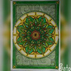 Mandala do Vento Real  Mandala Royal Wind  #thecantsleepcolouringbook #livroantiinsônia #divasdasartes #arte_e_colorir…