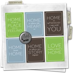 Serendipity Design free freebie home sweet home cards printables project life digital scrapbooking