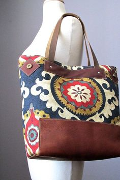 leather and canvas bag