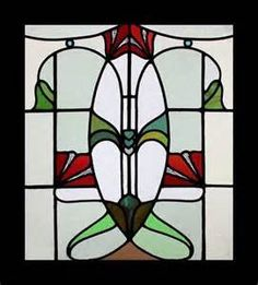 Stained Glass Window Art Nouveau English Antique RARE   eBay