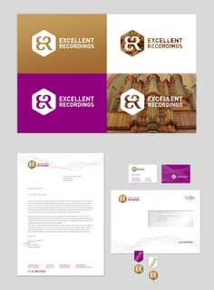 Excellent Recordings logo / huisstijl / website, 2012