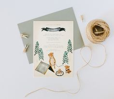 Camping baby shower invite by Kelli Murray