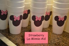 """Minnie Mouse Party"" - Strawberry Le-Minnie-Aid"