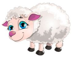 """Photo from album """"Овца Коза"""" on Yandex. Painting Patterns, Fabric Painting, Purple Flower Background, Sheep Illustration, Cute Lamb, Eid Crafts, Cartoon Fish, Cute Sheep, Easter Pictures"""
