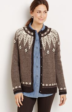 plus size wildwood Fair Isle cardi from J.Jill