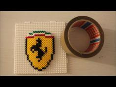 DIY: Der beste Bügelperlen-Tipp: Klebeband Methode ein Ferrari/ Perler B...
