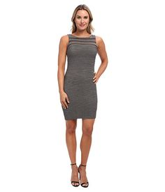Calvin Klein Calvin Klein  Metallic Dress w Tucking Gunmetal Womens Dress for 107.99 at Im in!