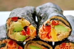 Raw Vegan Sushi (Gluten Free, Paleo)  Posted in [Vegan Cooking] By michelleblackwood | Healthier Steps