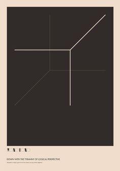 las lineas se juntan en un punto formando una sensación de tridimensionalidad junto a las otras tres libneas de detrás Graphic Design Posters, Graphic Design Typography, Graphic Design Inspiration, Graphic Art, Cover Design, Book Design, Layout Design, Print Design, Design Art