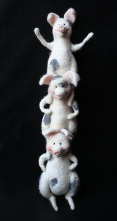 Three piggies by Laura Lee Burch