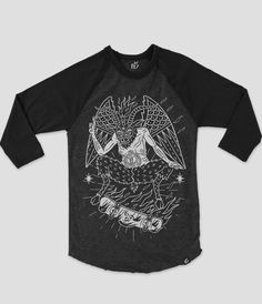 Baphomet raglan now online at www.nofitstate.co