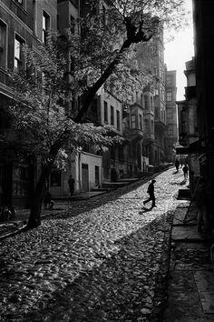 Ara Guler. TURKEY. 1965. Street in Tarlabasi.