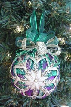 Quilted Christmas Ornament Pattern PDF by ChristmasOrnament, $4.95