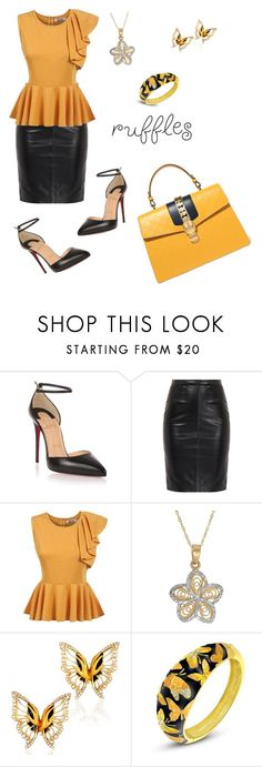 """""""Untitled #888"""" by mozzy18 ❤ liked on Polyvore featuring Christian Louboutin, MuuBaa, Lord & Taylor, Magerit and Gucci"""