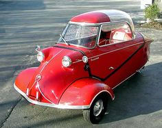 The or Kabinenroller (Cabin Scooter) was manufactured by Messerschmitt from 1955 to Tricycle, Automobile, Bmw Isetta, Microcar, Reverse Trike, Weird Cars, Crazy Cars, Small Cars, Car Humor
