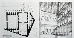 Roman Forum | Athenaeum. Reconstruction of the plan and hall interior, Built by Domitian, 81-91AD,  Rome. Arch Of Titus, Roman Forum, Hall Interior, Roman Architecture, Ancient Romans, Roman Empire, Rome, How To Plan, Building