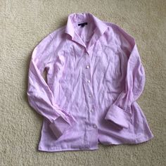 Lands End French cuff Lands' End lavender button down shirt• French cuffs• size 8• like new Lands' End Tops Button Down Shirts