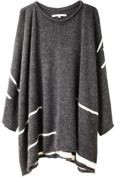Lovely dark grey comfy and cozy pull over