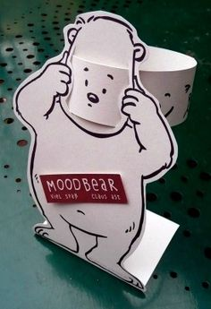 FREE PRINTABLE MOODBEAR - Great for discussing emotions! Draw faces on the back of the face slip to talk about facial features. (Cool Crafts For Teachers)