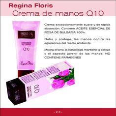 Crema de manos antiage Q10, Regina Floris, PVP: 9,31€ Pvp, Anti Aging, Shopping, Natural Cosmetics, Pharmacy, Moisturizer, Soaps, Beauty