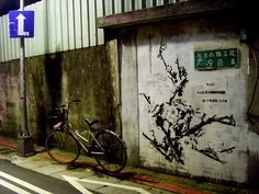 bbrother, a prominent street artist in Taiwan, work somewhere Taipei. #ContemporaryTaiwaneseArt #PhotojournalismTaiwan