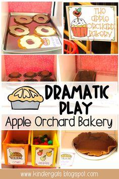Fall Preschool Activities, Apple Activities, Kindergarten Themes, Preschool Lesson Plans, Kindergarten Apples, Preschool Apples, Dramatic Play Themes, Dramatic Play Centers, Daycare Themes