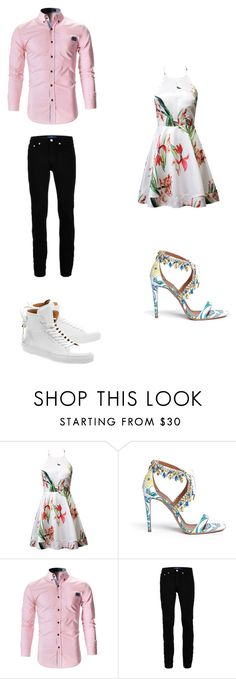 """""""Untitled #349"""" by kassidyrobinson on Polyvore featuring Aquazzura, Topman and BUSCEMI"""