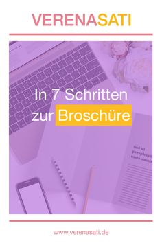 In 7 Schritten zur Broschüre