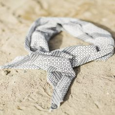 Lovely scarf - summer stripes dark grey