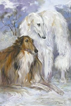 BR-NC Borzoi Blank White Note Cards