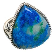 Large Shattuckite 925 Sterling Silver Ring Size 7.75 RING761912